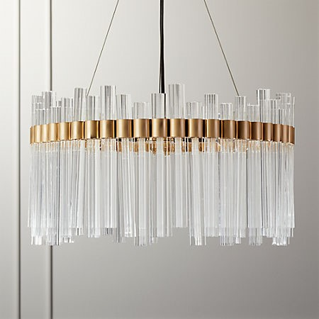 Orion Glass Crystal Chandelier + Reviews | CB2