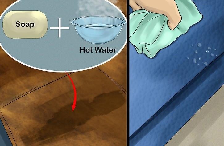 تمیز کردن مبلمان با آب و صابون