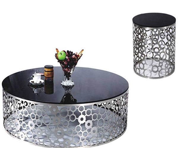 میز عسلی پایه فلزی