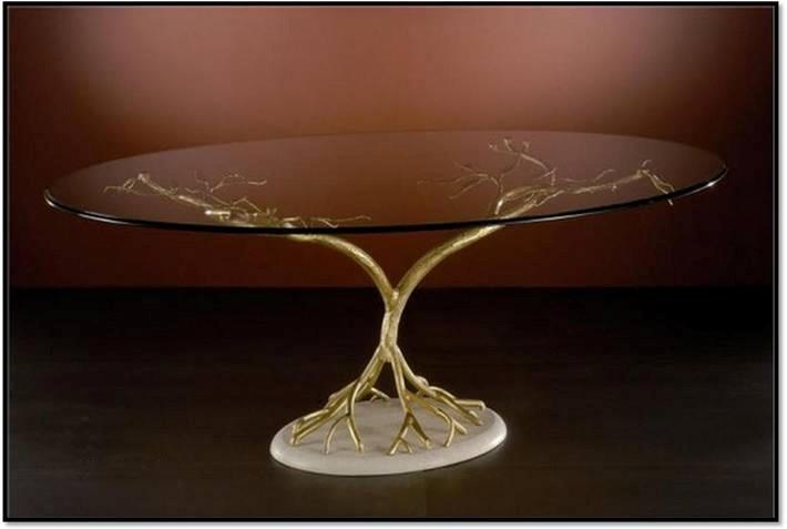 میزجلو مبلی شیشه ای