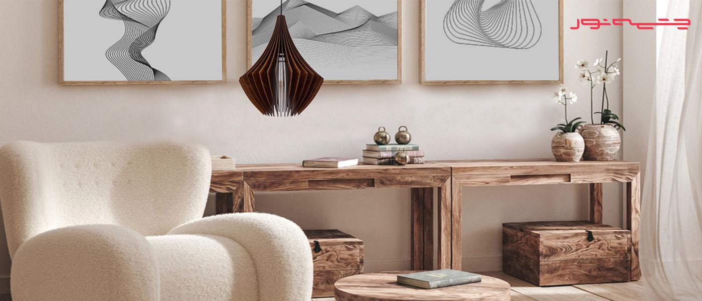 لوستر چوبی ارزان