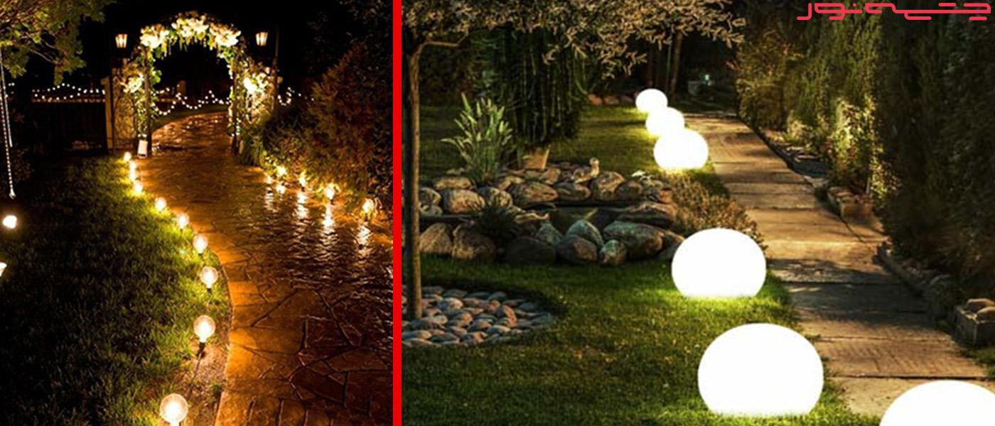 ایده های نورپردازی باغ- لوازم جانبی