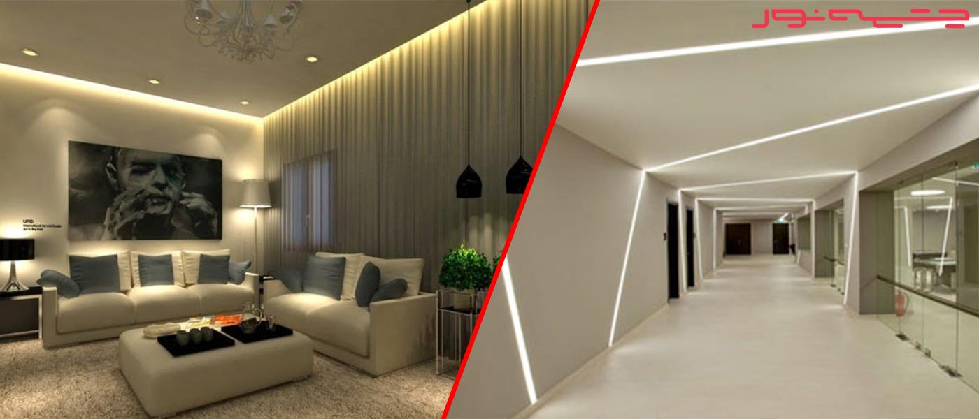 نورپردازی معماری- چراغ سقفی دکورشاپ